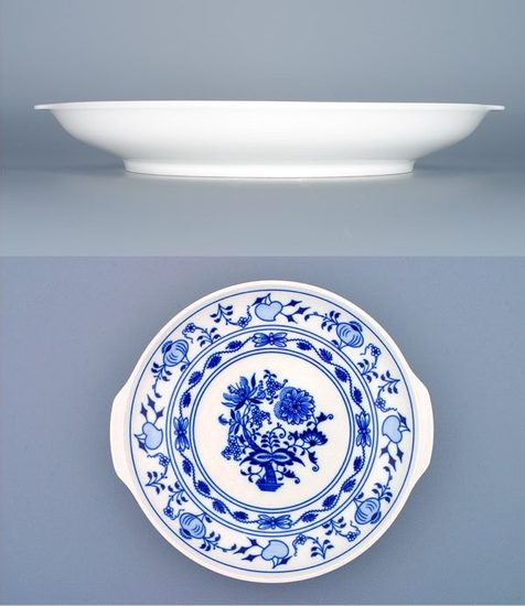 Plate with handles 24,6 cm, Original Blue Onion Pattern