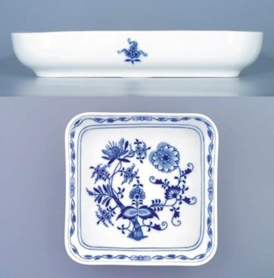 Salad dish 21 x 21 cm, Original Blue Onion Pattern