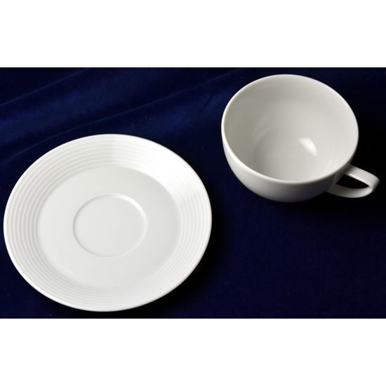 Cup and saucer 240 ml / 150 mm, Thun Calsbad porcelain