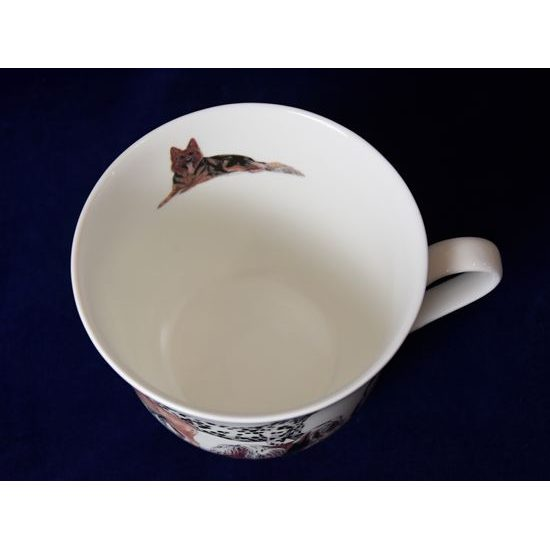 Dogs: Cup 420 ml and saucer breakfast, English Fine Bone China, Roy Kirkham