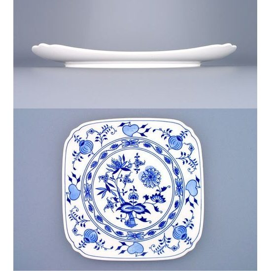 Square plate 29 cm, Original Blue Onion Pattern