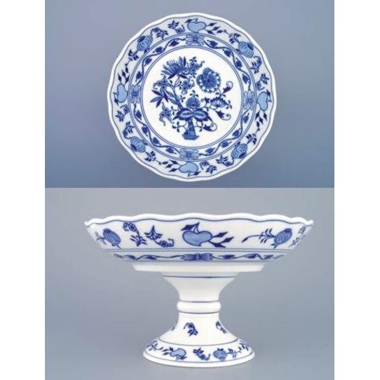 Compot dish on stand 24 cm, Original Blue Onion Pattern