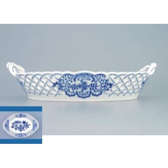Basket perforated 24 cm, Original Blue Onion Pattern