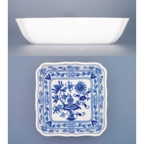 Salad dish square 24 cm, Original Blue Onion Pattern