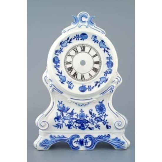Hearthstone clocks without roses 28 cm, Original Blue Onion Pattern