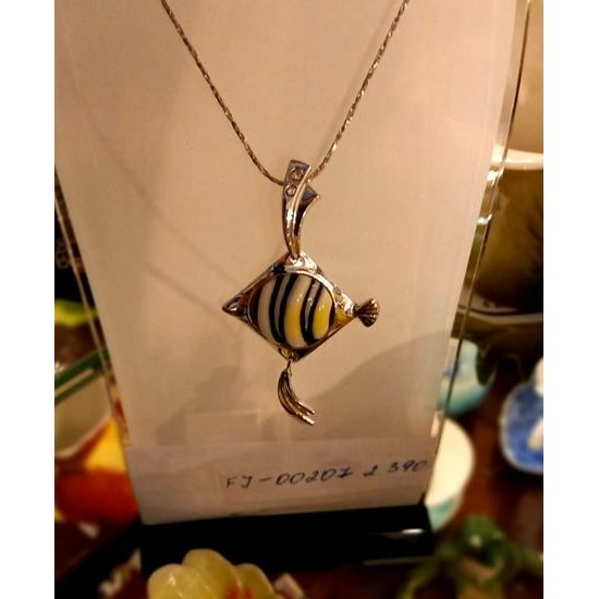 Necklace, Fish, FRANZ porcelain jewellery
