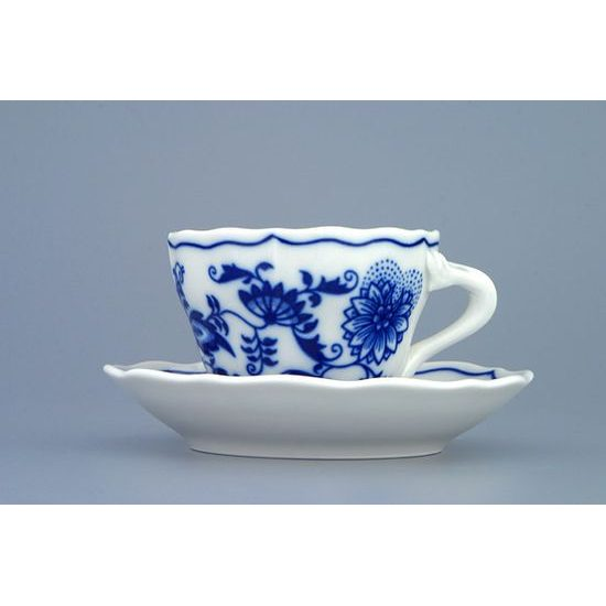 Cup and saucer A plus A 0,08 l / 11 cm for mocca (mini coffee), Original Blue Onion Pattern