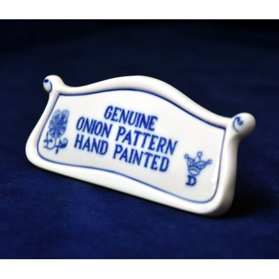 Plate perforated 24 cm, Original Blue Onion Pattern