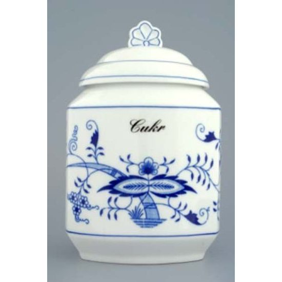 Dose for food storage with a sign 1,10 l, 17 cm, Original Blue Onion Pattern