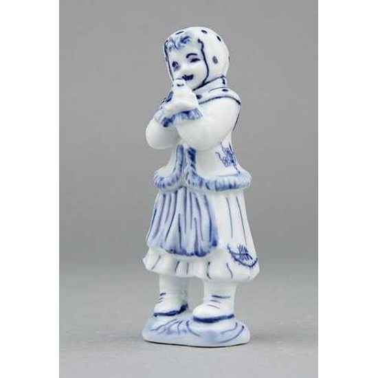 Girl with bird 10,8 cm, Original Blue Onion Pattern