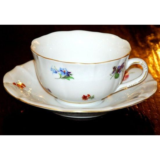 Cup and saucer mirror C/1 plus ZC1 0,20 l / 15,5 cm for tea, Hazenka, Cesky porcelan a.s.