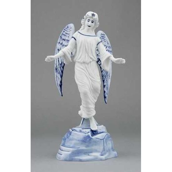Angel on stand 11,4 cm  plus  6 cm stand, Original Blue Onion Pattern