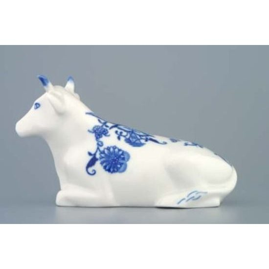 Cow lying 16 cm, Original Blue Onion Pattern