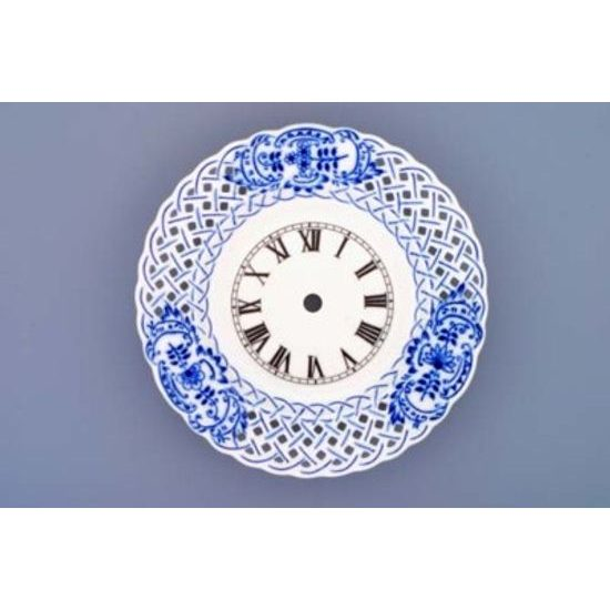 Clock perforated 18 cm  plus  clockwork, Original Blue Onion Pattern
