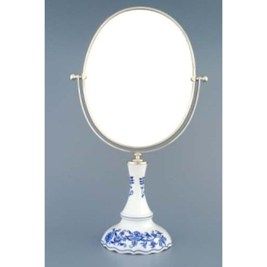 Mirror oval 27 cm h. of oval, Original Blue Onion Pattern