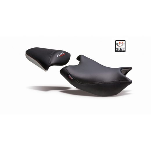 COMFORT SEAT SHAD SHH0NS709CH HEATED BLACK/GREY, RED SEAMS