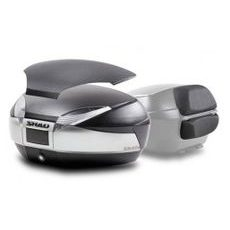 Kovček ( Top case ) SHAD SH48 New Titanium with backrest, carbon cover and PREMIUN SMART lock