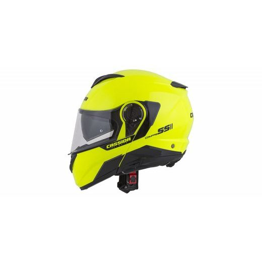 FULL FACE HELMET CASSIDA COMPRESS 2.0 REFRACTION YELLOW FLUO / BLACK / GREY M