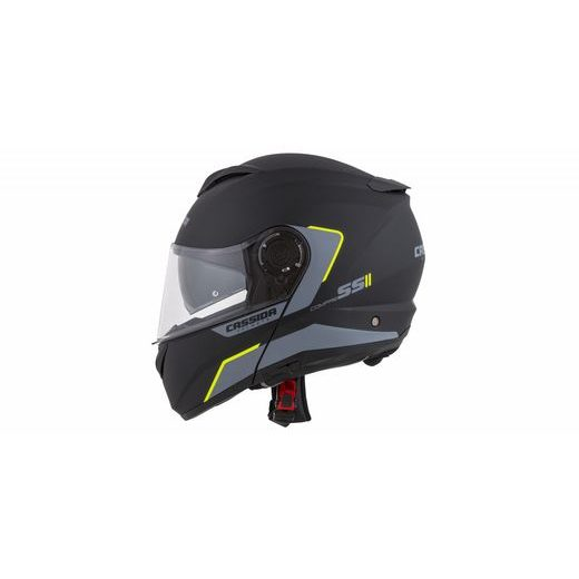 FULL FACE HELMET CASSIDA COMPRESS 2.0 REFRACTION MATT BLACK / GREY / YELLOW FLUO XL
