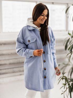 Košilový kabátek Shaket, sv. modrá