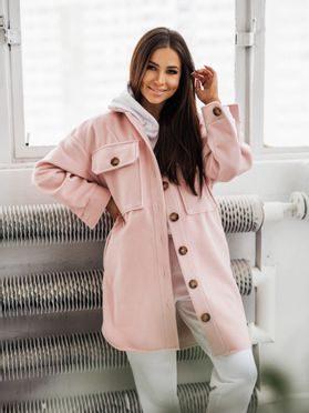 Košilový kabátek Shaket, sv. růžová