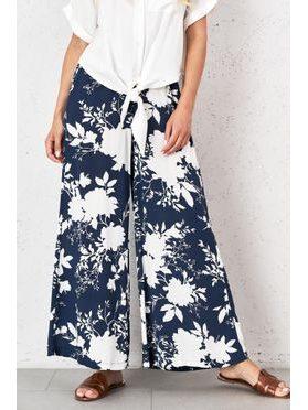 Květované bavlněné kalhoty