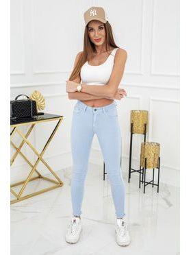 Jednobarevné skinny jeans ve sv. modré barvě