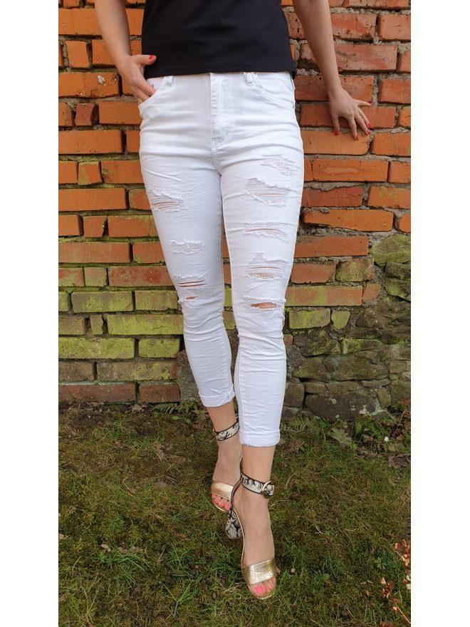 Skinny jeans z odlehčené džínoviny