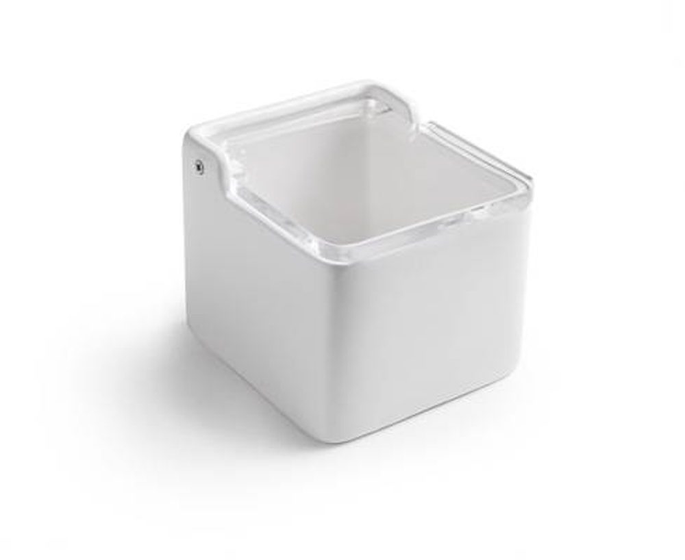 Ibili Bílá keramická dóza na sůl plastové víčko