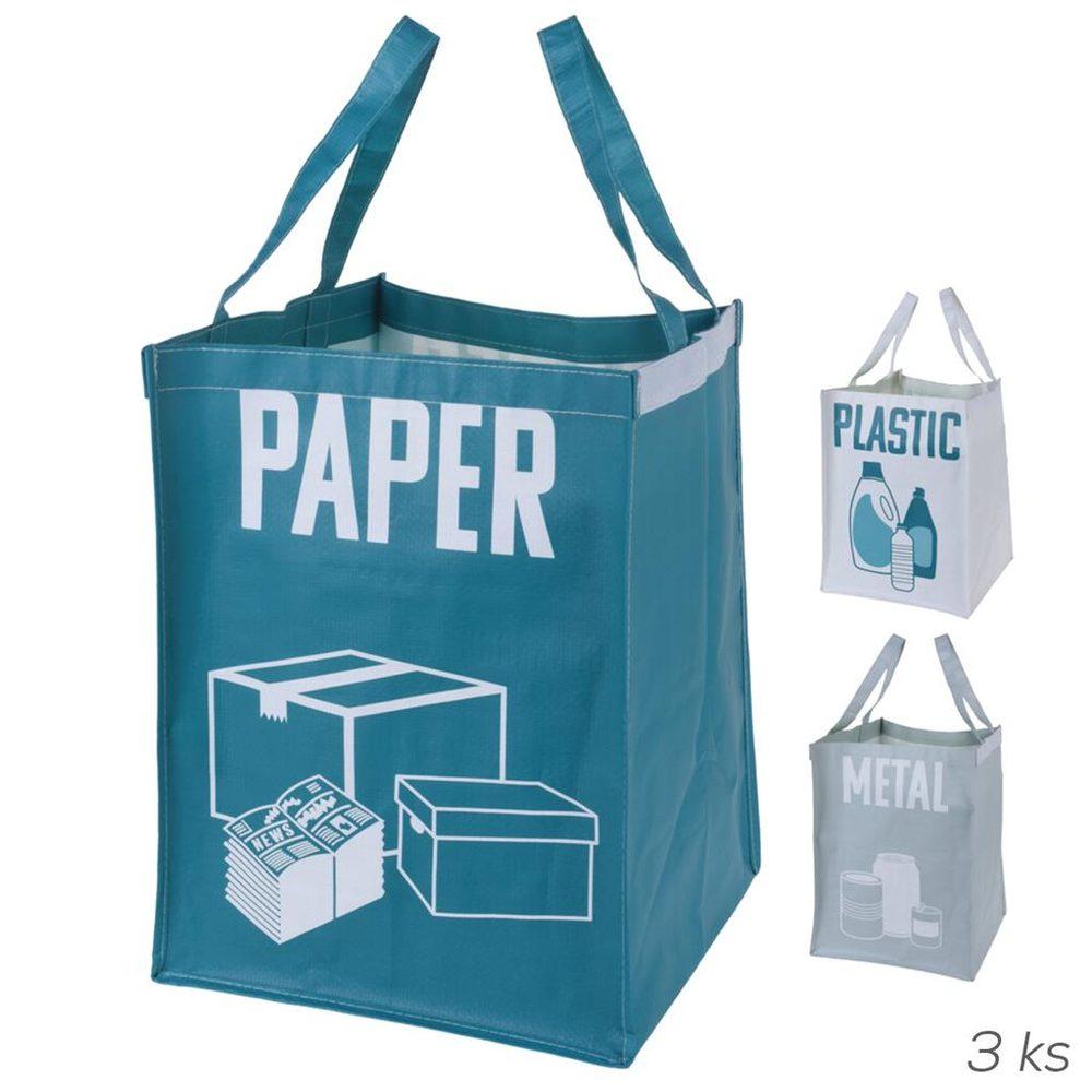 ORION domácí potřeby Tašky na tříděný odpad - 3 ks