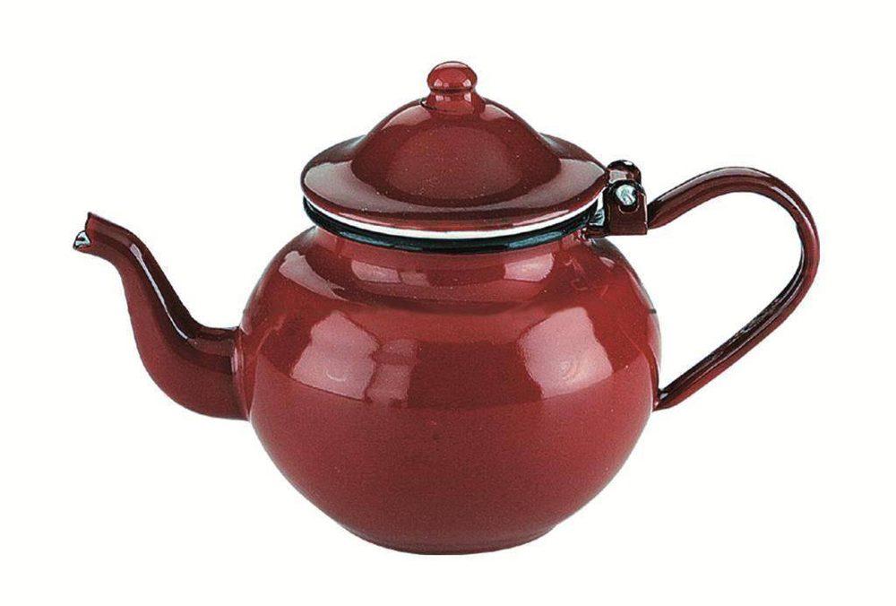 Ibili Smaltovaná konvička na čaj 0,75l - červená