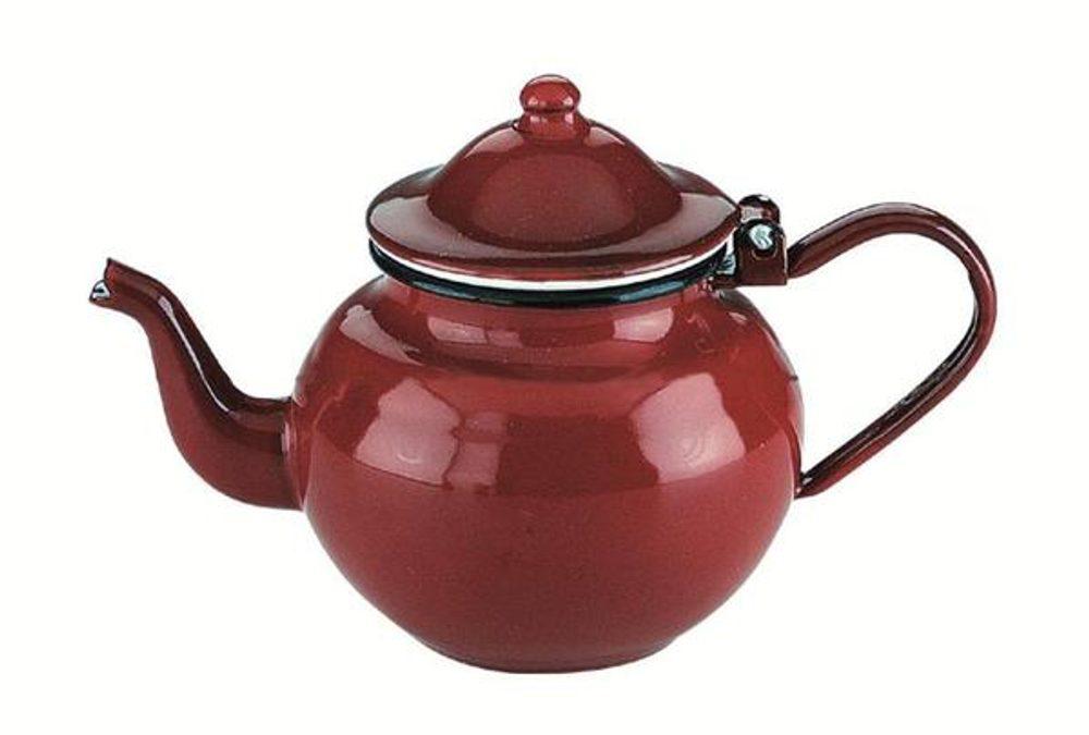 Ibili Smaltovaná konvička na čaj 0,5l - červená