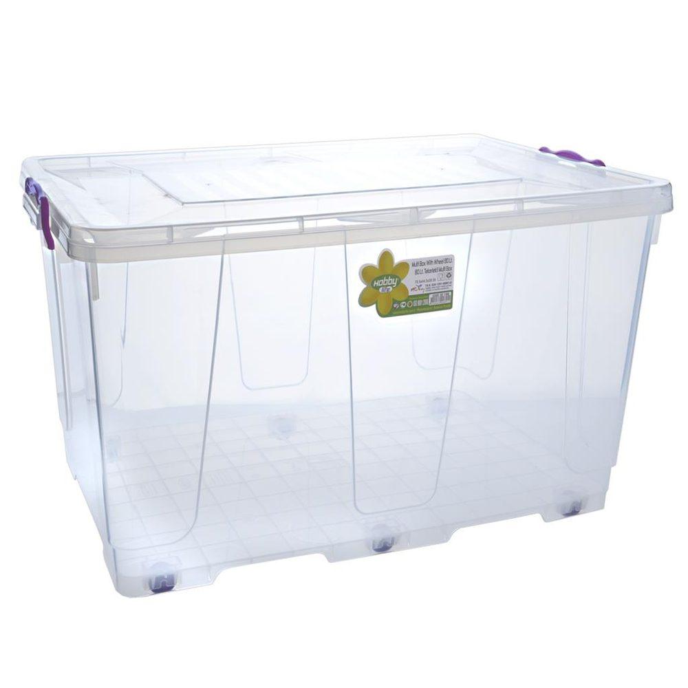 Hobby Life Box plast multi obdelník kolečka 80 l