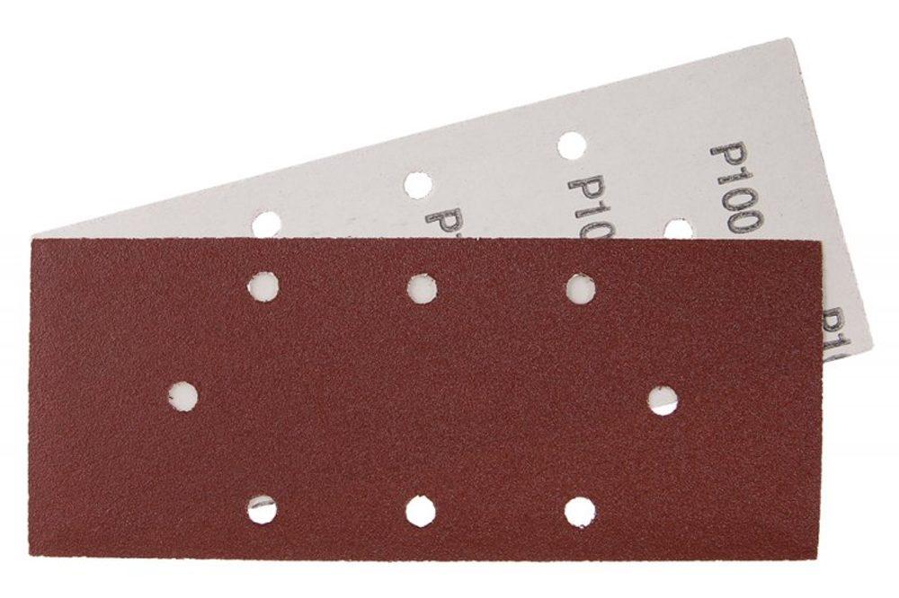 Levně Papír brusný 93x230mm, P100, 8 otvorů 5 ks