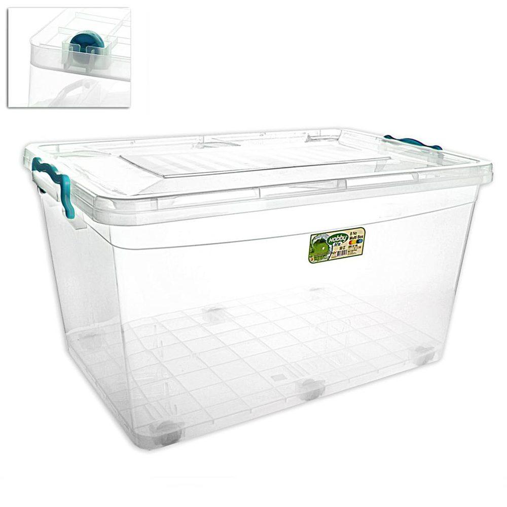 Hobby Life Box plast multi obdelník kolečka 50 l