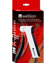 Wellion infrared thermometer for checking the temperature on the patient's forehead or earlobe