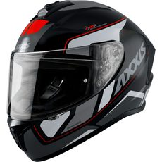 FULL FACE helmet AXXIS DRAKEN ABS wind b0 gloss white M