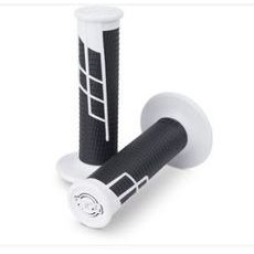 Clamp on grips 1/2 waffle white/black ProTaper 021667