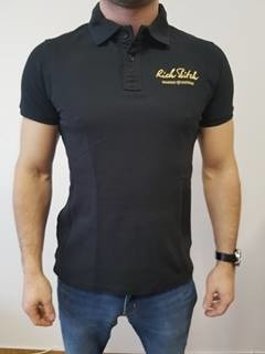 RITCH POLO SHIRT BLACK - Polo Shirt L