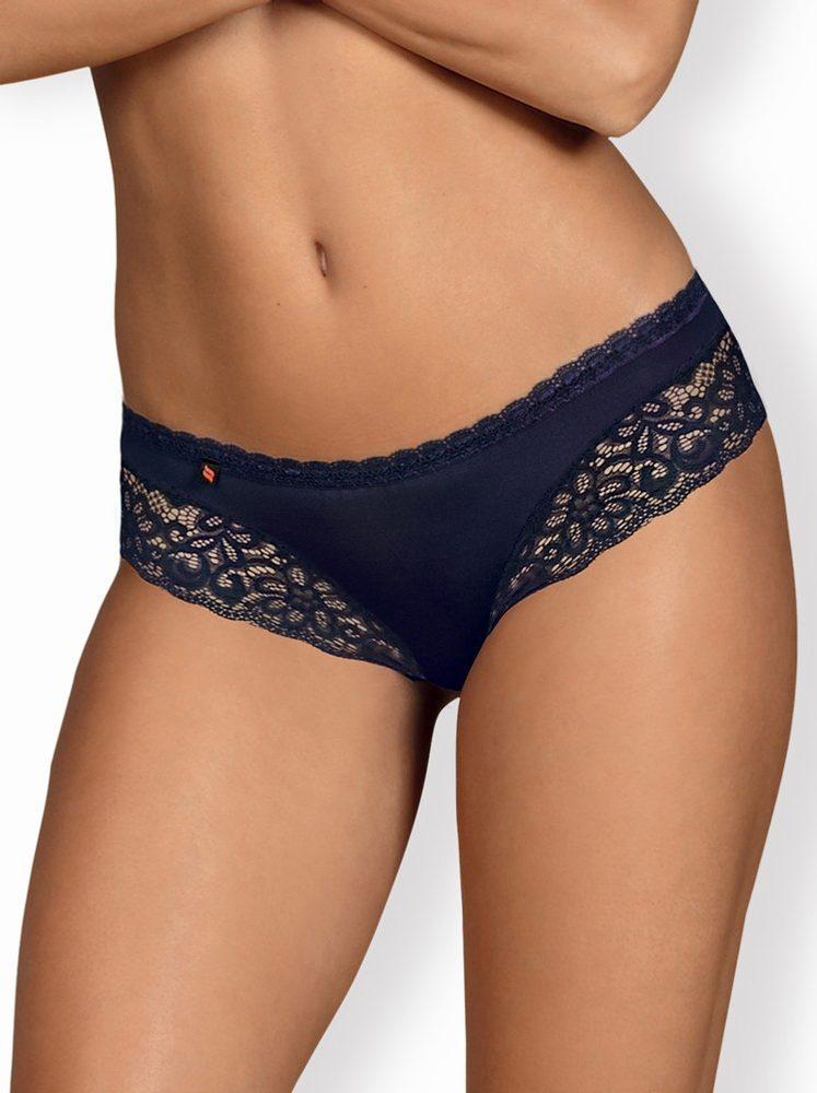 Jedinečné kalhotky Obsessive Drimera panties - modrá - S/M