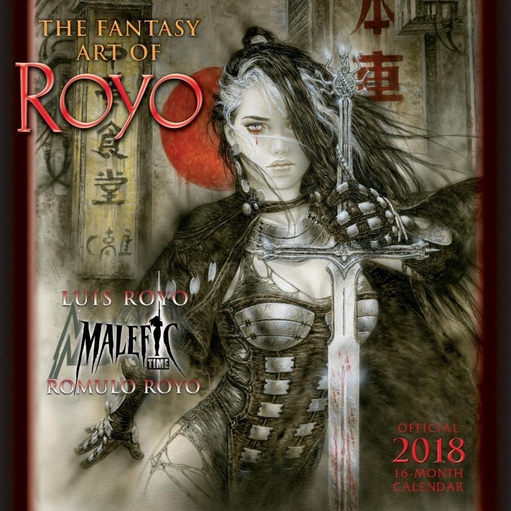 FANTASY ART OF ROYO - 2018 CALENDAR