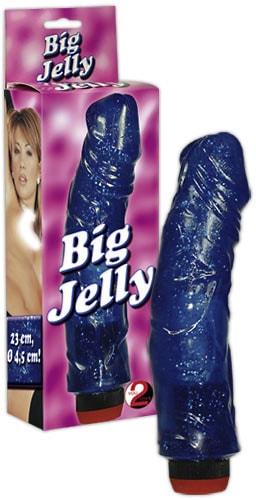 Vibrátor Big Jelly Modrý