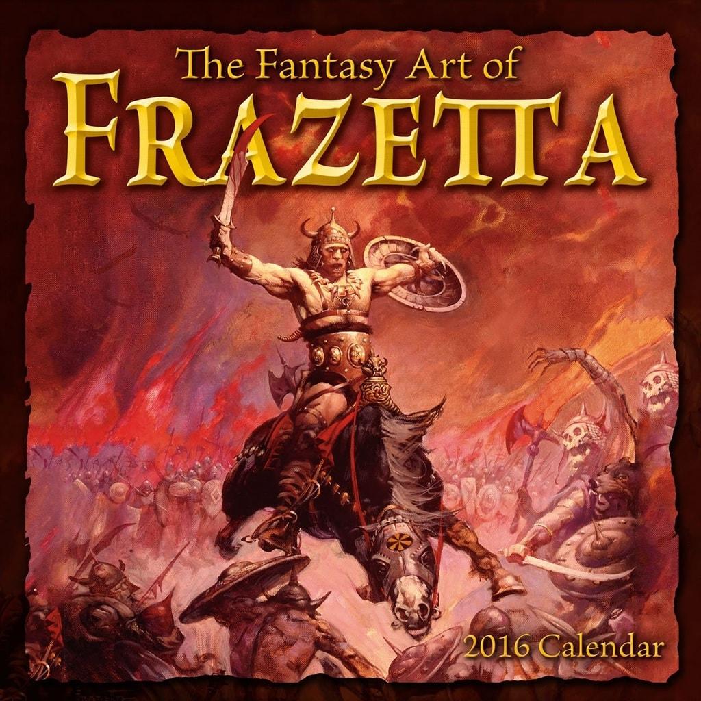 FANTASY ART OF FRANK FRAZETTA - 2016 CALENDAR