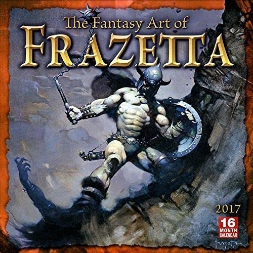 FANTASY ART OF FRANK FRAZETTA - 2017 CALENDAR ***sleva 50%!***