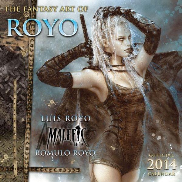 FANTASY ART OF ROYO - Official 2014 Calendar SLEVA 50%!
