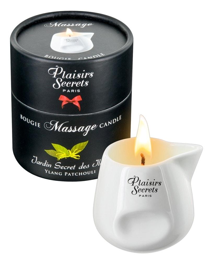 Masážní svíčka Plaisirs Secrets Candle Ylang Patchouli (80 ml)