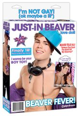 Justin Beaver inflatable doll.