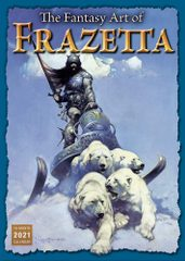 FANTASY ART OF FRANK FRAZETTA - 2021 CALENDAR