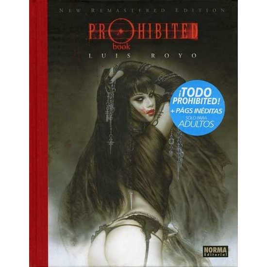 Luis Royo PROHIBITED BOOK NEW REMASTERED EDITION