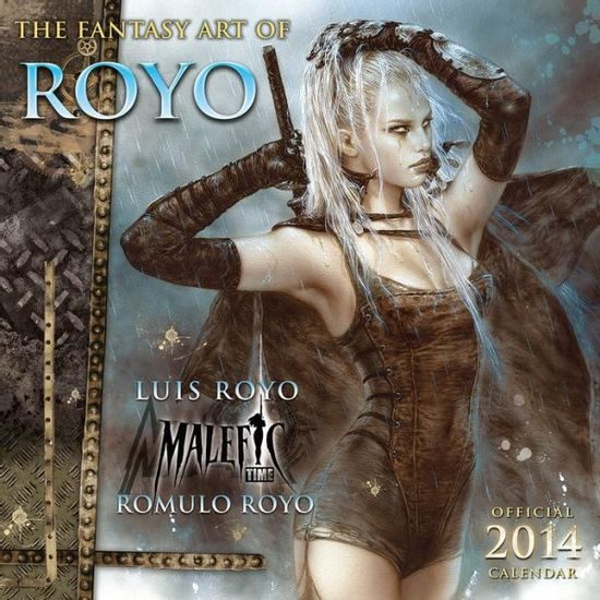 FANTASY ART OF ROYO - Official 2014 Calendar ***SLEVA 50%!***